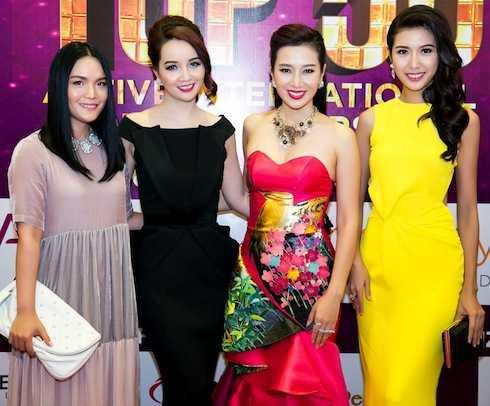 Mai Thu Huyền, Á hậu Quý bà Thu Hương và Thuý Vân.