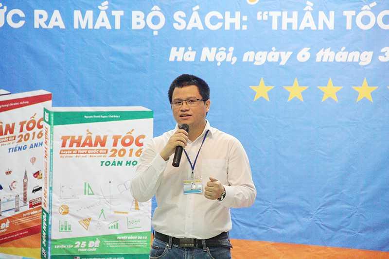 Ông Chu Văn Cường – Giám đốc Megabook giới thiệu về dự án sách luyện thi tích hợp đầu tiên ở Việt Nam