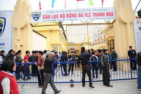 Trận đấu trên sân Thanh Hóa chiều nay bị hoãn