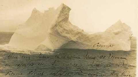 Tảng băng làm chìm tàu Titanic huyền thoại.