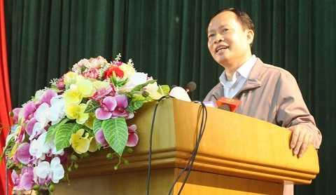 Ông Trịnh Văn Chiến phát biểu tại buổi đối thoại