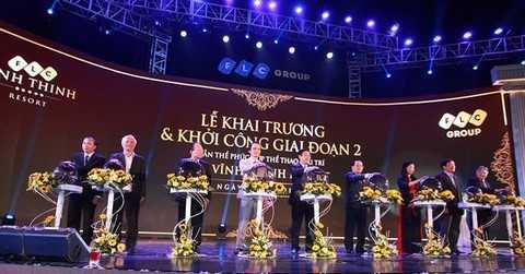 Nghi thức khai trương FLC Vĩnh Thịnh Resort.