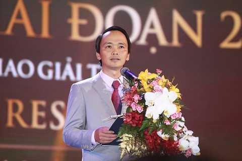 Ông Trịnh Văn Quyết, Chủ tịch HĐQT Tập đoàn FLC phát biểu tại lễ khai trương FLC Vĩnh Thịnh Resort.