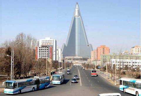 Khách sạn Rygyong nằm giữa trung tâm Thủ đô