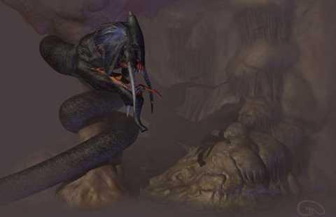 7. Quái vật Grootslang, con quái   vật này còn được coi là thần giữ của bởi nó bảo vệ những mỏ kim cương,   vàng bạc. Có hình dạng của một con mãng xà khổng lồ, nhưng đầu lại là   đầu của một con voi vô cùng dữ tợn, nó sẵn sàng ăn thịt những kẻ dám xâm   lấn lãnh địa và bảo vệ quyết liệt kho báu của mẹ tự nhiên.