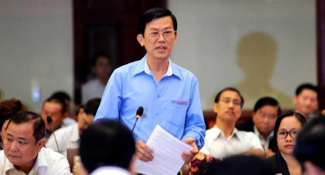 Ông Đỗ Phước Tống - Chủ tịch hội Cơ khí - Điện TP.HCM đóng góp ý kiến tại hội nghị - Ảnh: Duyên Phan