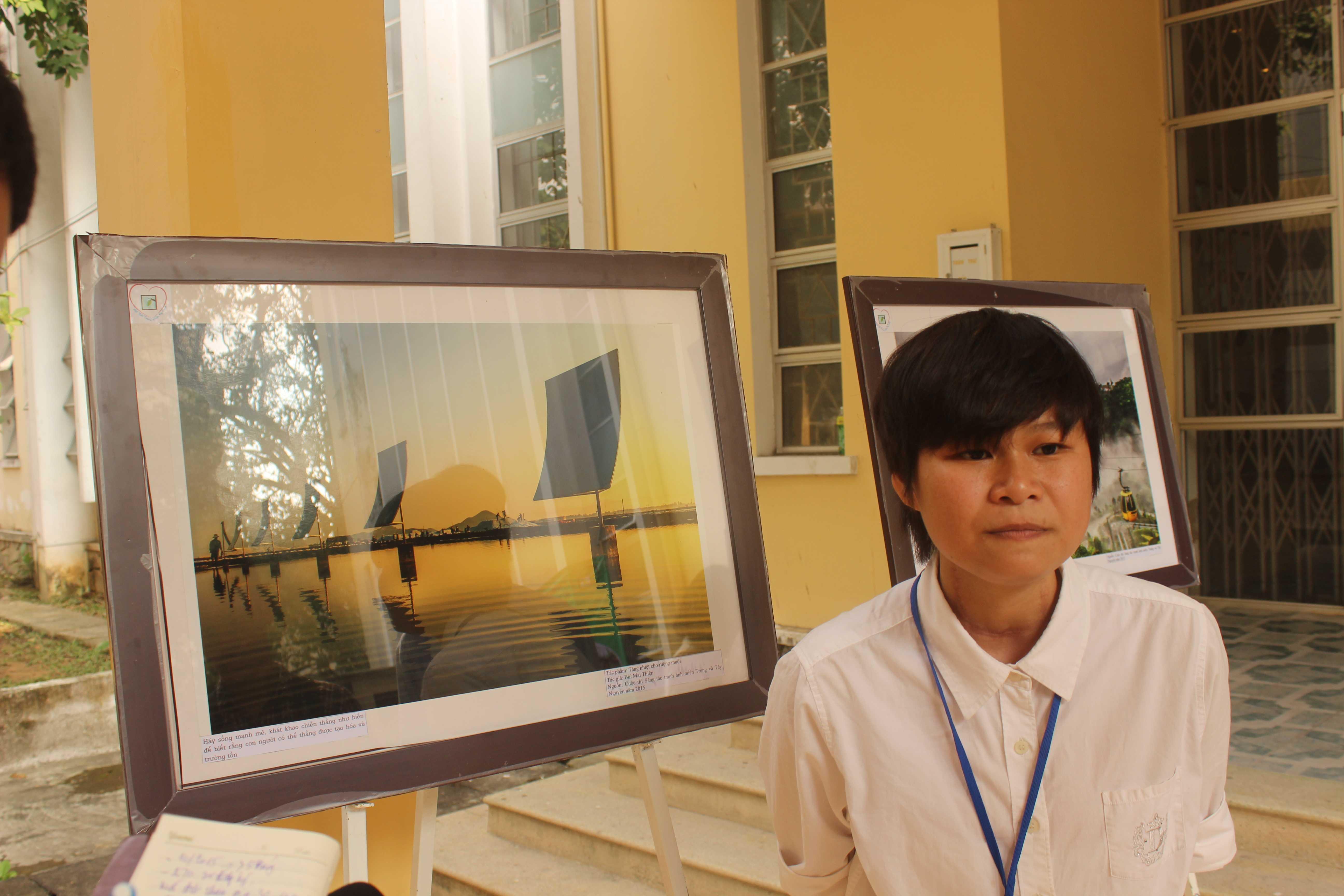 """Nguyễn Thị Hương Giang người đặt nền móng cho dự án """"một bức tranh nhiều hi vọng"""" tại Huế."""