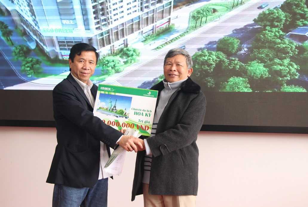 """Đã tìm thấy chủ nhân của """"chuyến  du lịch Mỹ"""" trị giá 90 triệu đồng dành cho khách hàng mua nhà tại dự án Eco – Green City"""