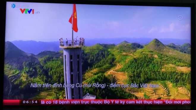 Một hình ảnh từ clip được ông Tuấn tố là VTV đã sử dụng của mình