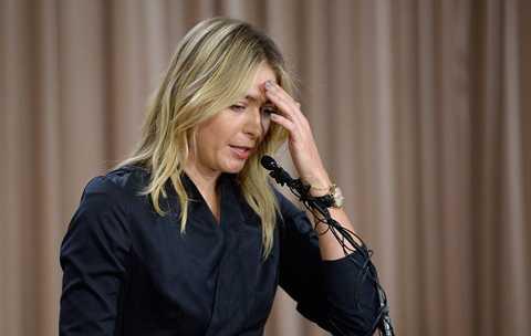 Sharapova trong cuộc họp báo trưa 7/3 tại Los Angeles.