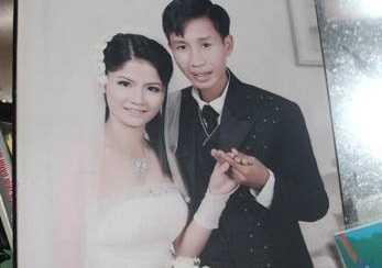 Ảnh cưới của vợ chồng chị Hải.