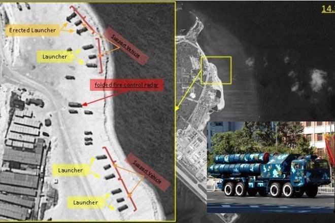 Trung Quốc triển khai tên lửa đất đối không trên đảo Phú Lâm thuộc quần đảo Hoàng Sa của Việt Nam