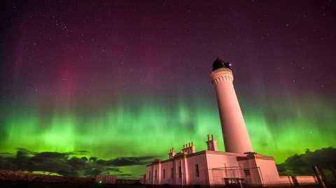 Cực quang xuất hiện trên bầu trời nước Anh hôm chủ nhật vừa qua. Ảnh Itv