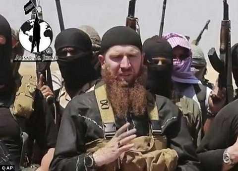 Bộ trưởng chiến tranh Abu Omar al-Shishani của IS. (Ảnh: AP)