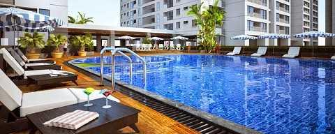 Bể bơi khoáng mặn bốn mùa độc đáo tại tầng 5 tòa nhà