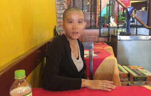 Chị Phượng kể lại vụ việc con gái mình bị bắt cóc.