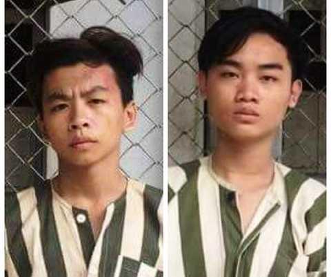 Nghi can Lâm Quang Thiện vàNguyễn Hữu Thiện Long (trái)