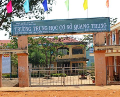 Trường THCS Quang Trung nơi xảy ra sự việc