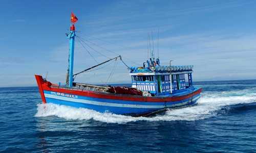 Tàu cá của Việt Nam cùng 5 ngư dân bị chìm ở Hoàng Sa. (Ảnh minh họa)