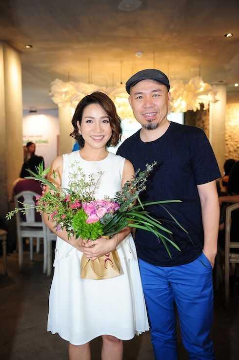 Diva Mỹ Linh và nhạc sỹ Huy Tuấn.