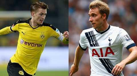 Cặp đấu Tottenham - Dortmund cũng rất được quan tâm