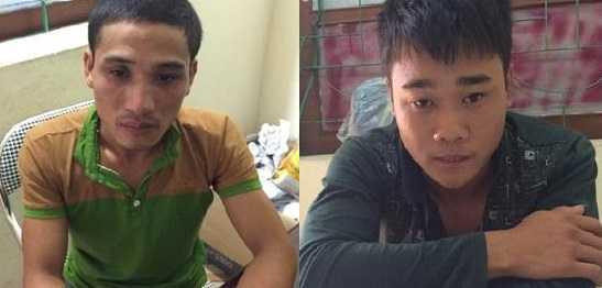 Đậu Minh Nam và Lê Công Tương (phải)