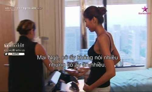 Thí sinh trong ngôi nhà chung tỏ ra không   thích đại diện của Việt Nam vì cô tách biệt và ăn uống không để ý tới   những người xung quanh.