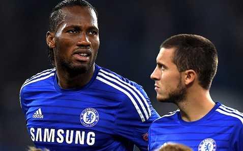 Hazard rất thân với Drogba