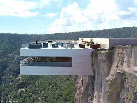 Được gọi là Copper Canyon Cocktail Bar, nhà hàng trên vách đá này sẽ nằm gần thác nước Falls Basaseachic ở Mexico. Nơi đây chắc chắn sẽ cung cấp một cái nhìn tuyệt đẹp của cảnh quan cảnh quan xung quanh.
