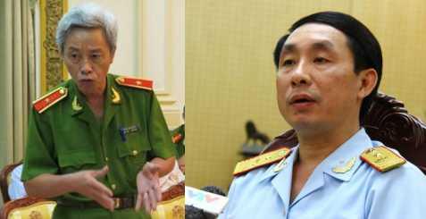 Tướng Phan Anh Minh và ông Hoàng Việt Cường