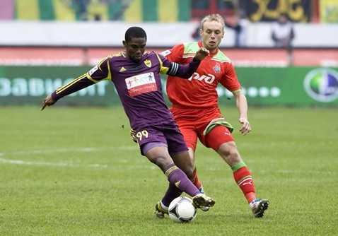 Samuel Eto'o cũng có thời gian ngắn thi đấu ở Nga. Anh được nhận mức lương hơn 20 triệu euro/năm.