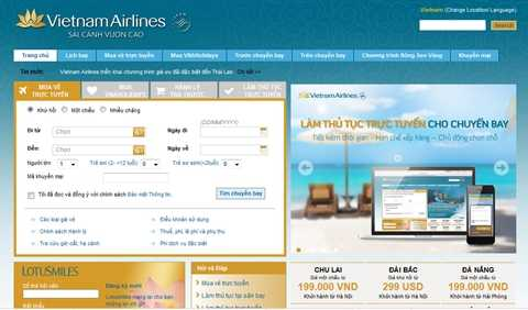 Chuyên gia thương hiệu chê website của Vietnam Airlines thiếu tương tác