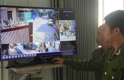Camera an ninh được Công an TP Đà Nẵng vận động xã hội hóa lắp đặt tại phường Xuân Hà. (Ảnh: PLO).