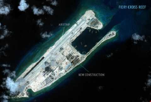 Trung Quốc ngang nhiên cho lắp đặt radar quân sự tại đá Chữ Thập của Việt Nam. (Ảnh: CSIS)