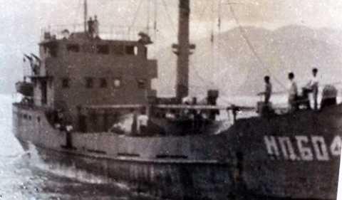 Tàu HQ-604 khi nhận lệnh ra Gạc Ma. Ảnh tư liệu Lữ đoàn 125