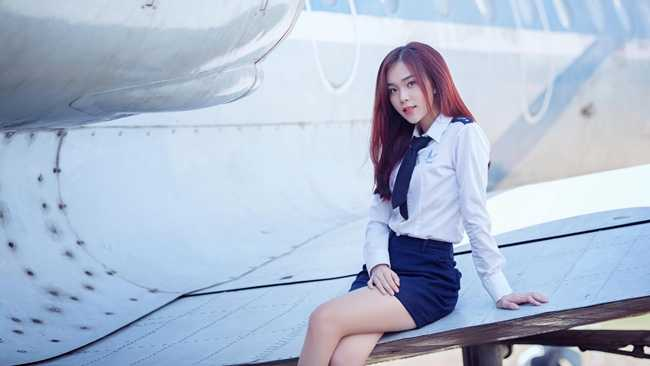 Lê Hoàng Minh Phương có biệt danh là Phương TiTi, sinh năm 1994 là một   trong những gương mặt nổi bật của trường Học viện Hàng không.