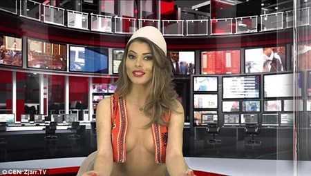 Greta Hoxha dẫn chương trình thời sự gây sốc.