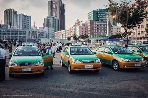 Xe taxi ở thủ đô Bình Nhưỡng.
