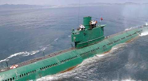 Một tàu ngầm của Triều Tiên. Ảnh: RT