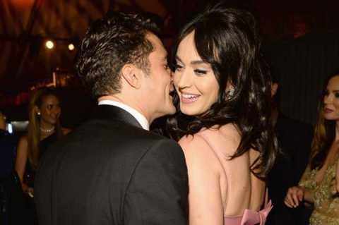Katy Perry và Orlando Bloom nảy nở tình yêu sau lễ trao giải Quả cầu vàng hồi tháng 1.