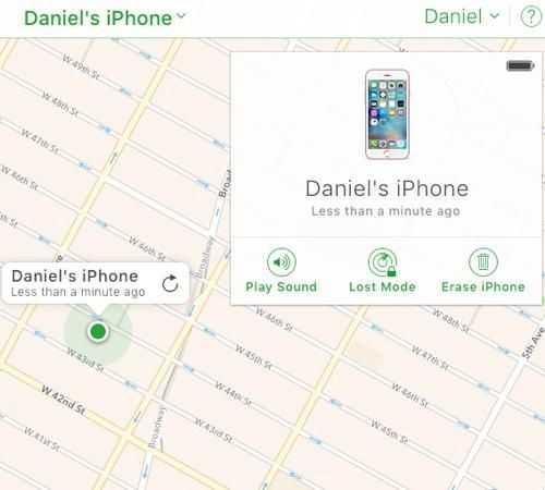 Find My iPhone là tính năng bảo mật rất tốt của Apple. Ảnh: Yahoo News.