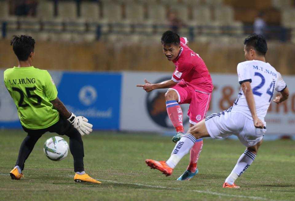 CLB Hà Nội thắng trận thứ 2 liên tiếp (Ảnh: Quang Minh)