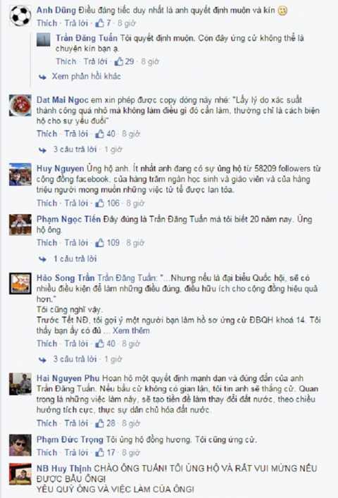 Hầu hết cư dân mạng xã hội Facebook đều ủng hộ việc làm của cựu Phó Tổng giám đốc VTV.