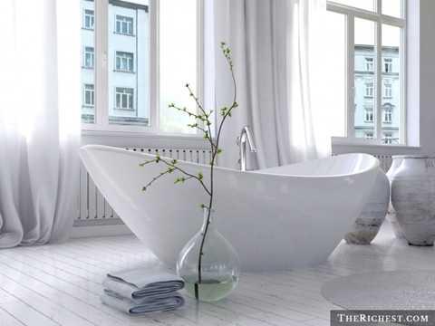 Bồn tắm. Theo nghiên cứu, vi khuẩn tụ cầu - một loại vi khuẩn có thể gây bệnh được tìm thấy rất nhiều tại bồn tắm của các gia đình