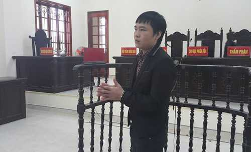 Trương Văn Quang tại phiên tòa. Ảnh: Hải Bình.