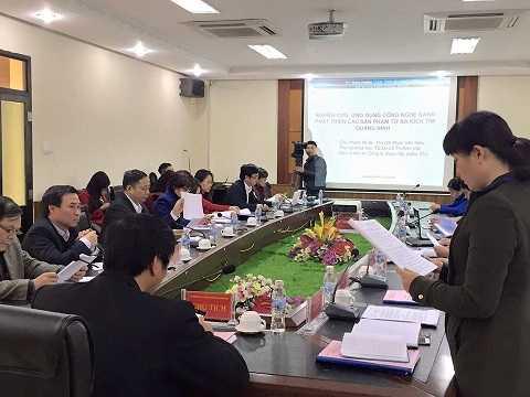 Buổi trình bày nghiên cứu tại Sở KHCN Quảng Ninh