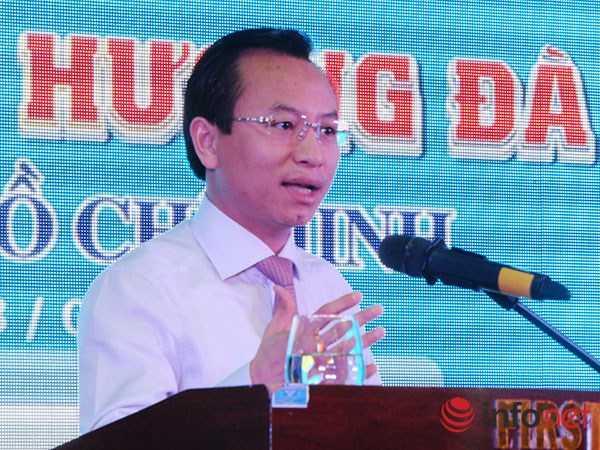 Ông Nguyễn Xuân Anh khẳng định Đà Nẵng không có quan điểm bài xích người Trung Quốc nhưng sẵn sàng xử phạt người nước ngoài nếu vi phạm pháp luật Việt Nam! (Ảnh: HC)