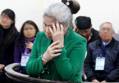 Bà Mai tại phiên toà sơ thẩm.