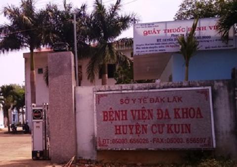 Bệnh viện Đa khoa huyện Cư kuin nơi xảy ra vụ việc - Ảnh:PV