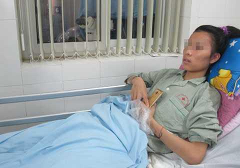 Nga sau khi được phẫu thuật trả lại giới tính, với cái tên mới dự kiến là Nam Phong. Ảnh: N.Phương.